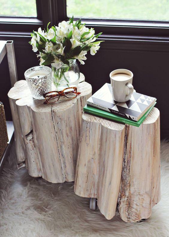 Un tavolino tronco