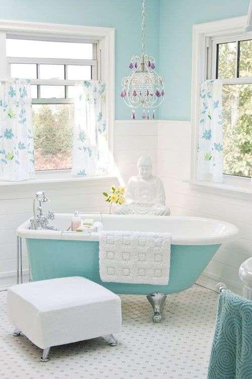 Stile shabby chic colore azzurro 20 idee a cui ispirarsi - Bagno stile shabby ...