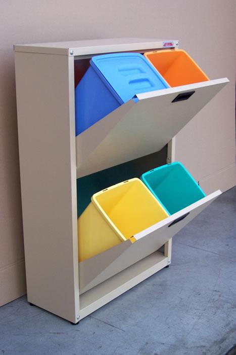 Sistemare i secchi della raccolta differenziata 20 idee - Contenitori raccolta differenziata per casa ...