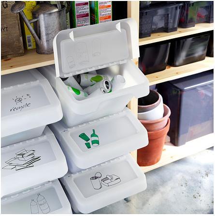 Sistemare i secchi della raccolta differenziata 20 idee - Raccolta differenziata in casa ...
