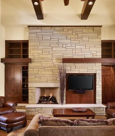 ... idee per decorare la parete TV con le pietre! Lasciatevi ispirare