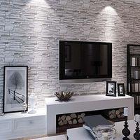 Decorare la parete tv con le pietre 20 idee for Parati per soggiorno