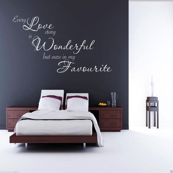 Stencil Pareti Camera Da Letto : Scritte decorative in camera da letto ecco idee