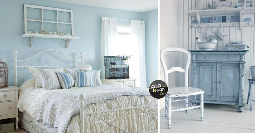 Stile shabby chic colore azzurro 20 idee a cui ispirarsi for Pittura salone