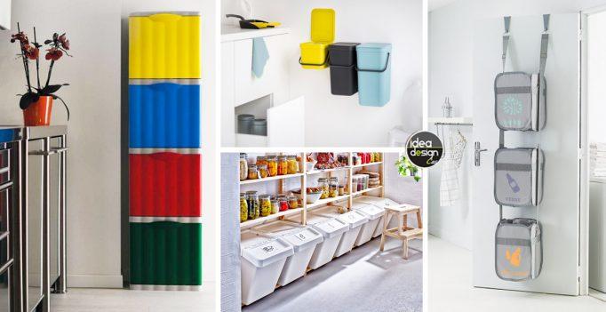 Sistemare i secchi della raccolta differenziata 20 idee for Come sistemare la casa