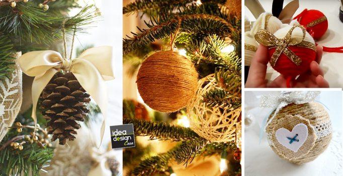 Decorazioni fai da te per l 39 albero di natale 20 idee - Idee decorazioni natalizie fai da te ...