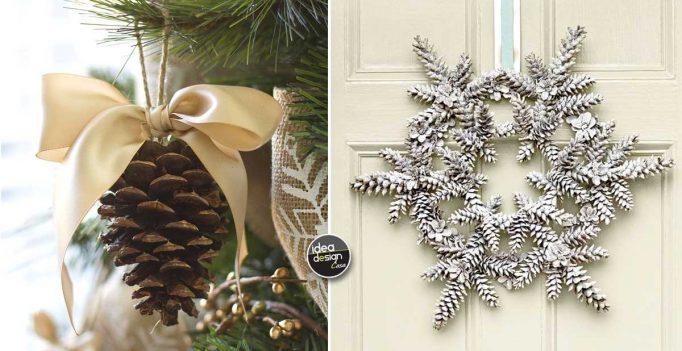 Decorazioni natalizie con le pigne ecco 20 idee creative da vedere - Decorazioni con le pigne per natale ...