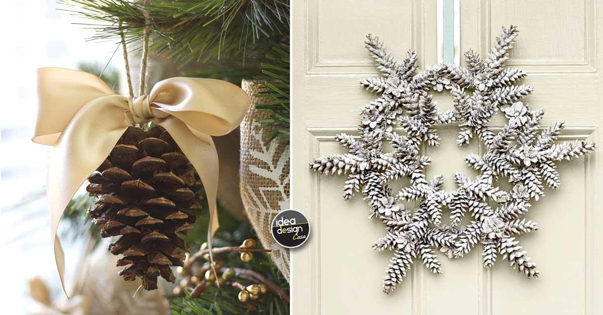 Decorazioni natalizie con le pigne ecco 20 idee creative - Decorare le finestre per natale ...