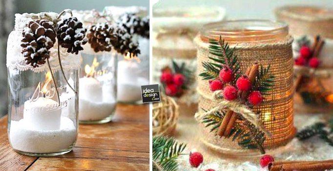 Riciclare i barattoli di vetro per decorare a natale 20 - Come decorare un barattolo ...