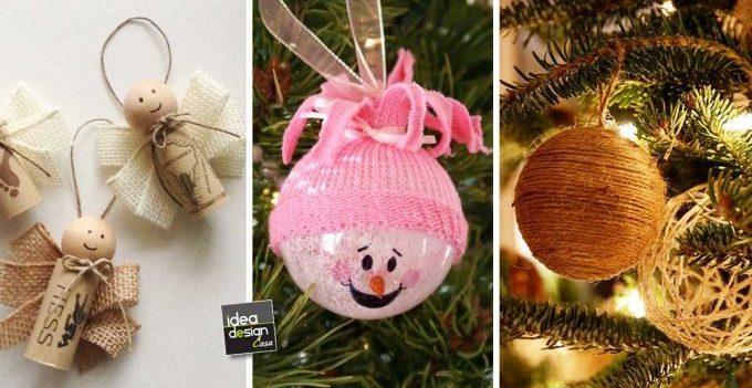 Decorazioni fai da te per l 39 albero di natale 20 idee tutorial - Decorazioni natalizie fai da te per esterno ...
