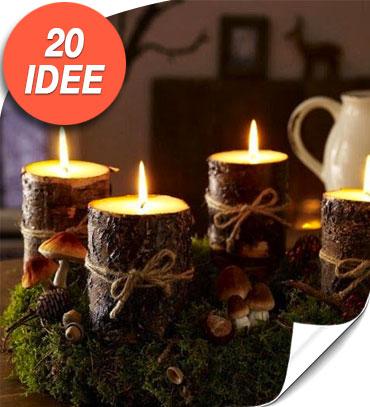 Decorazioni natalizie con tronchi e rami 20 idee creative - Decorazioni natalizie fai da te per esterno ...