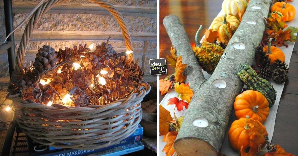 Composizioni invernali con tronchi pigne candele ecco - Decorazioni invernali fai da te ...