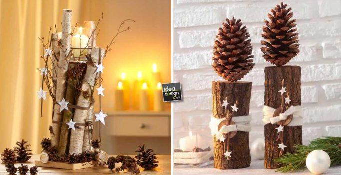 Idee Creative Natale 2016 : Addobbi natalizi fai da te legno