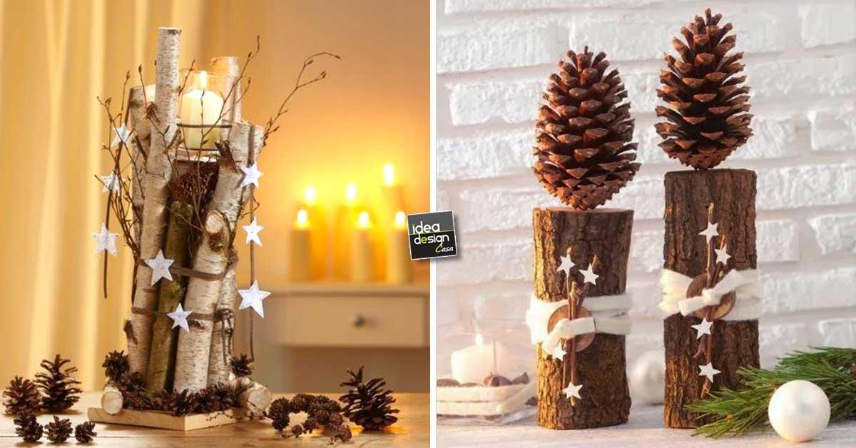 Decorazioni natalizie con tronchi e rami 20 idee creative - Decorazioni natalizie con le pigne ...