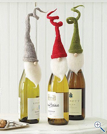 decorare le bottiglie a Natale