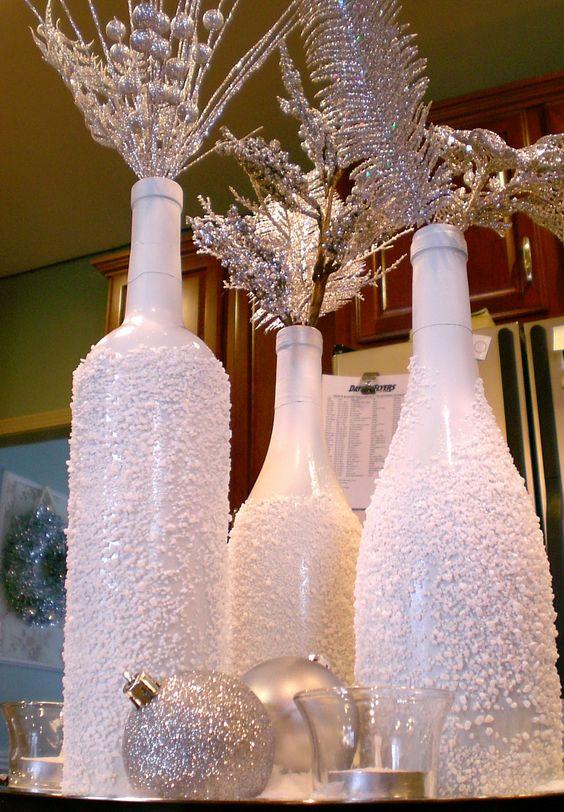 decorare con le bottiglie a Natale