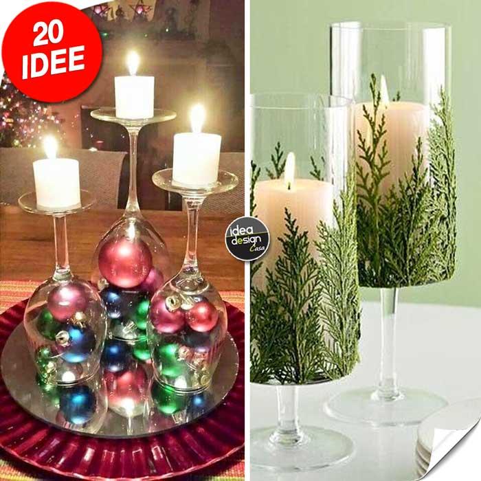 Portacandele natalizi con bicchieri di vetro fai da te 20 - Ikea portacandele vetro ...
