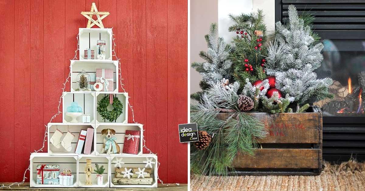 Idee natalizie con pallet e cassette di legno ecco 20 - Decorazioni natalizie legno fai da te ...