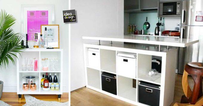 Usare gli scaffali IKEA in modo originale! 30 idee