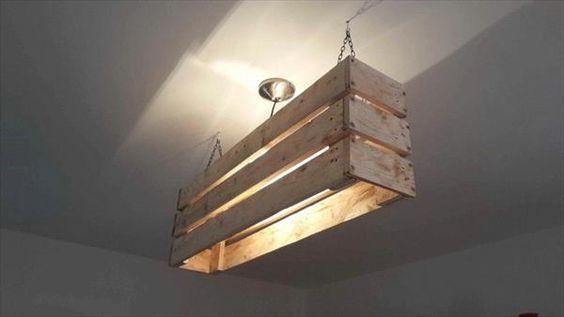 Creare un lampadario o una lampada con i bancali ? Idea n? 14