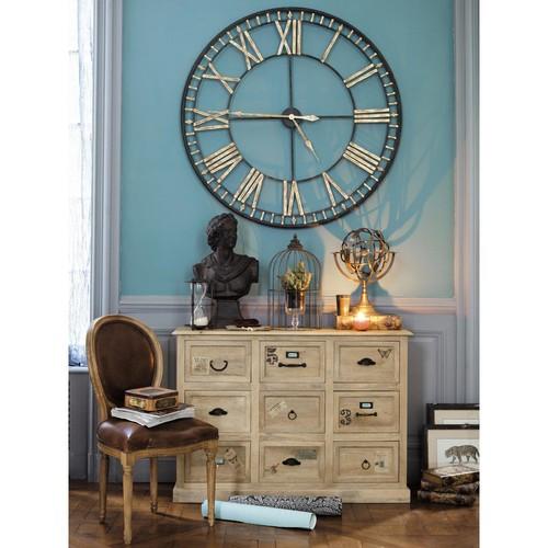 Orologi da parete realizzati con pallet 20 idee creative - Papeles pintados la maison ...