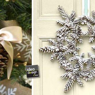 Portafoto originale con barattoli di vetro 20 idee - Decorazioni natalizie pigne ...