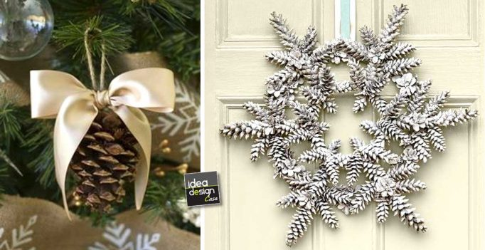 Decorazioni natalizie con le pigne ecco 20 idee - Pigne decorate natalizie ...