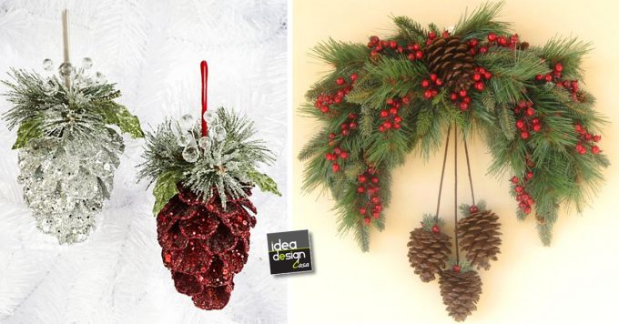 Decorazioni natalizie con le pigne ecco 20 idee - Decorazioni natalizie con le pigne ...