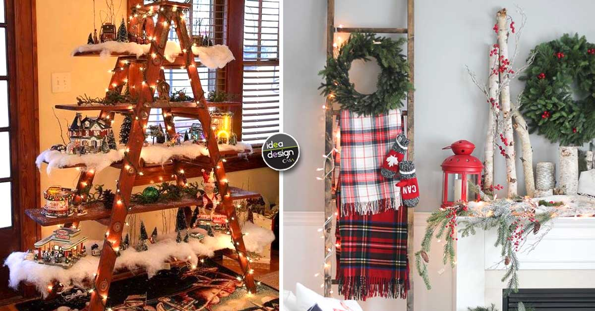 Natale Idea.Decorare Una Scala Per Natale Ecco 20 Idee Creative
