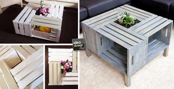 Tavolini fai da te con cassette di legno 20 idee creative - Idee fai da te legno ...