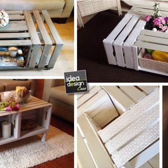 Bellissimi tavolini fai da te con cassette di legno! 20 idee da cui ...