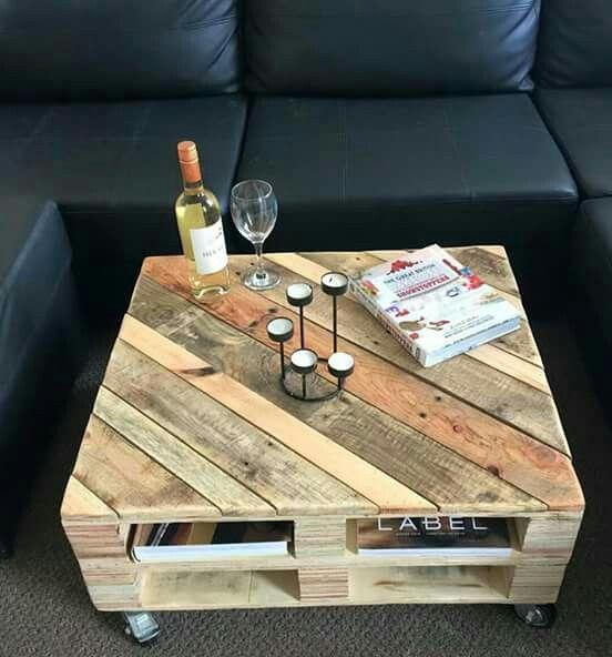Tavolini con bancali molto originali 20 idee lasciatevi Table de salon palette