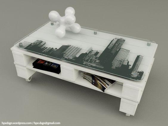 Tavolini con bancali molto originali 20 idee lasciatevi ispirare - Mesa centro palet ...