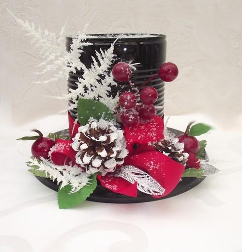 Riciclare i barattoli in latta per decorare a natale 20 - Creare decorazioni natalizie ...