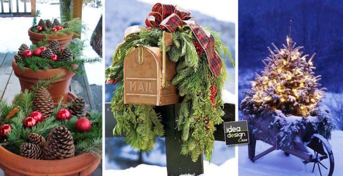 20 decorazioni esterne per natale lasciatevi ispirare - Decorazioni natalizie fai da te per esterno ...