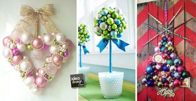 Bellissime decorazioni con palline di natale 20 idee for Palline natale fai da te