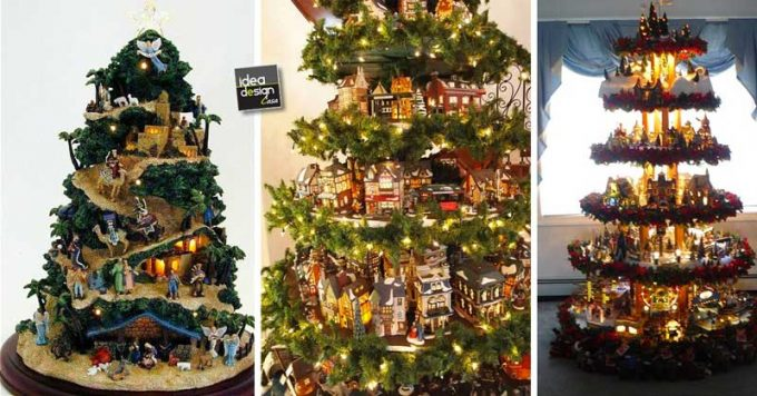 Natale Di Natale.Un Villaggio Nel Tuo Albero Di Natale 15 Esempi Bellissimi