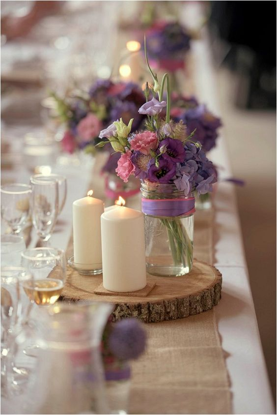 centrotavola floreale di matrimonio