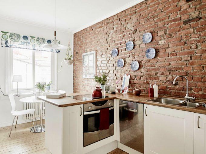 Mattoni a vista di colore rosso per decorare casa 20 idee - Decorare i muri di casa ...