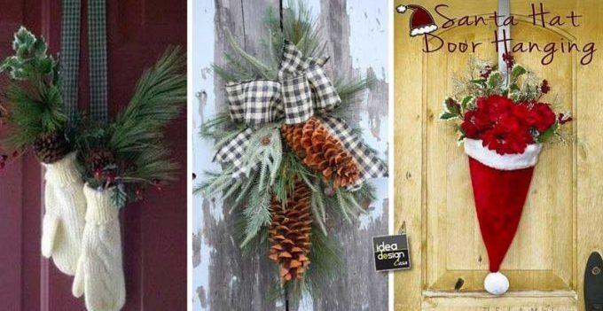 Decorazioni Ufficio Natale : Decorare la porta d ingresso a natale ecco idee per ispirarvi
