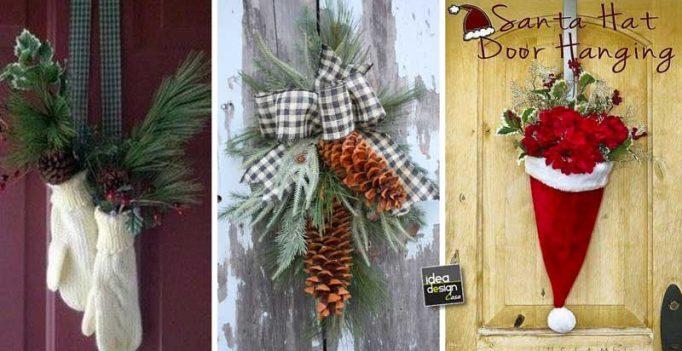 Decorare la porta d 39 ingresso a natale ecco 15 idee per - Ghirlande per porte natalizie ...