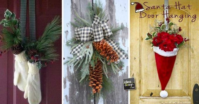Sedie Decorate Per Natale : Decorare la porta d ingresso a natale ecco idee per