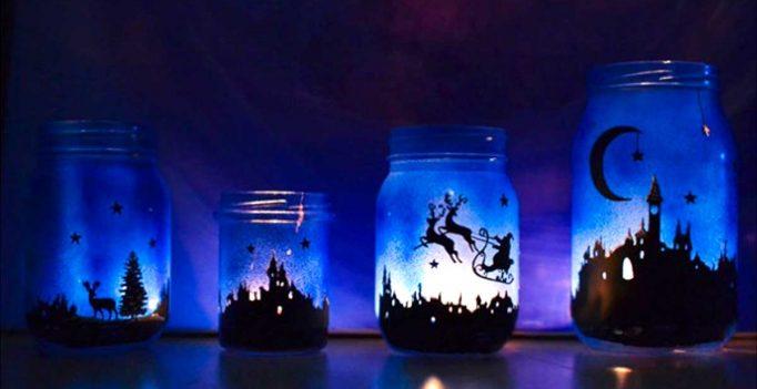 Decorazioni Luminose Natalizie : Decorazioni natalizie fai da te con barattoli di vetro! 20 idee