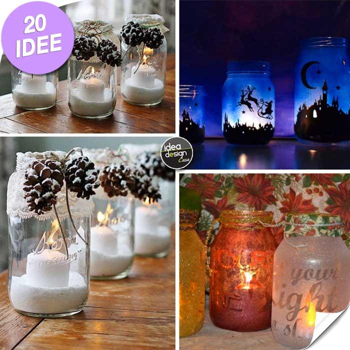 Decorazioni natalizie fai da te con barattoli di vetro 20 - Idee decorazioni natalizie fai da te ...