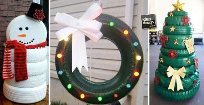 Decorazioni Ufficio Natale : Decorazioni natalizi con pneumatici ecco idee a cui ispirarsi