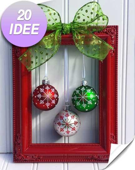 Un quadretto natalizio originale fai da te! 20 idee\u2026