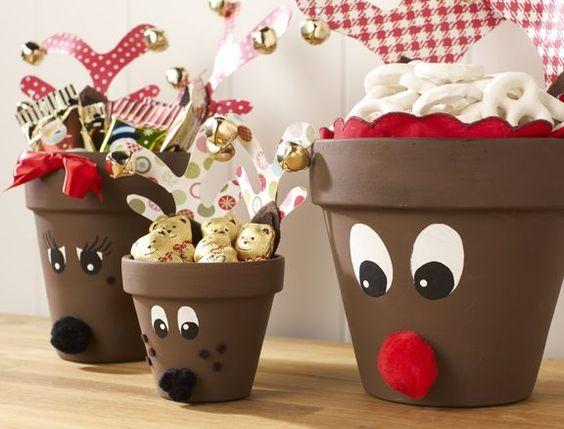 vasi terracotta decorazioni fai da te : Decorazioni natalizie fai da te con vasi di terracotta ? Idea n? 4