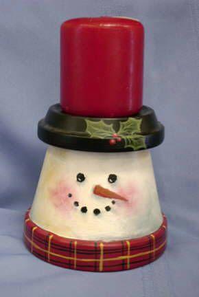 Decorazioni natalizie fai da te con vasi di terracotta ? Idea n? 8
