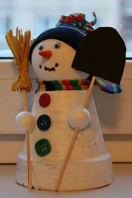 vasi terracotta decorazioni fai da te : Decorazioni natalizie fai da te con vasi di terracotta ? Idea n? 8