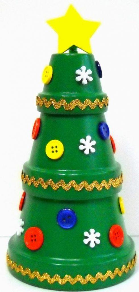 vasi terracotta decorazioni fai da te : Decorazioni natalizie fai da te con vasi di terracotta ? Idea n? 5